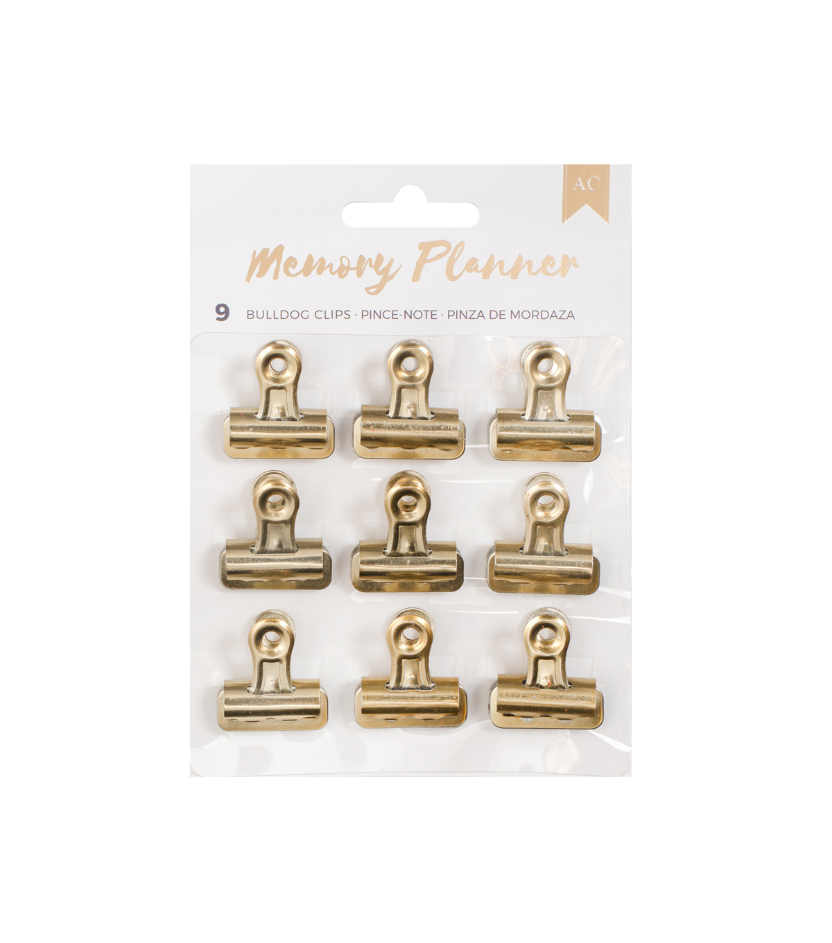 American Crafts™ 9 Pack Memory Planner Binder Clips