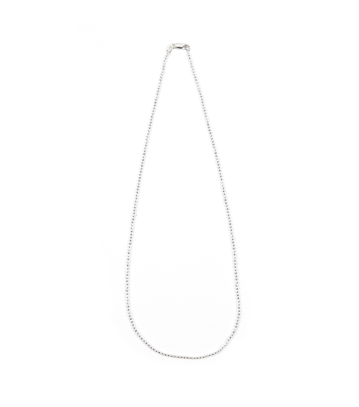 18 inch Sterling Silver Plated Ball Chain Style Necklace, 1.2mm chain
