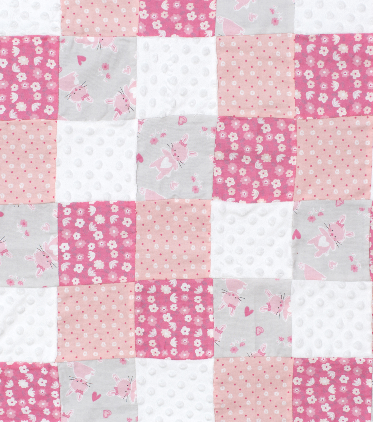 Nursery 3D Patchwork Fabric 44\u0027\u0027-Cute As A Bunny