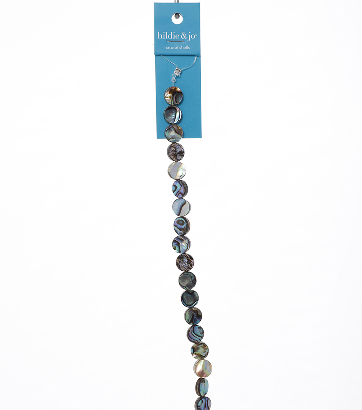 Abalone Disc Beads, 7-inch Strand