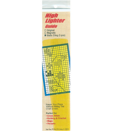 Static Cling High Lighter Guide 6\u0022X1\u0022 3/Pkg-Yellow