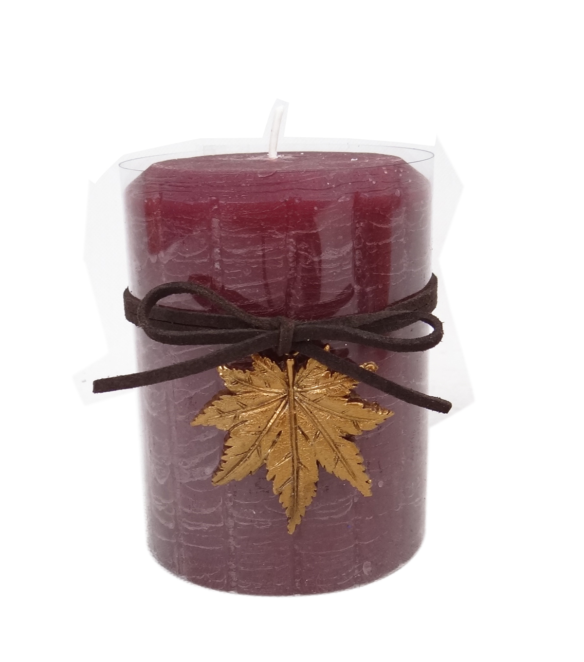 Fall Into Color 3''x4'' Pillar Candle-Purple