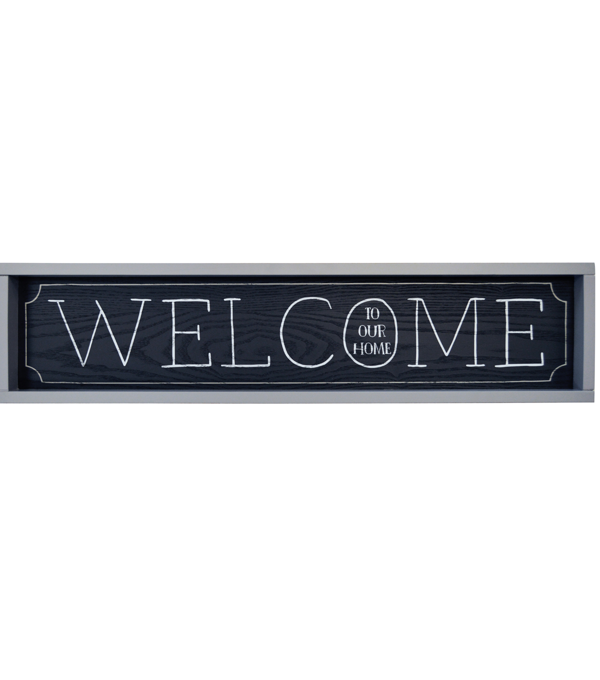 Rectangular Shaped Over The Door Sign-Welcome To Our Home