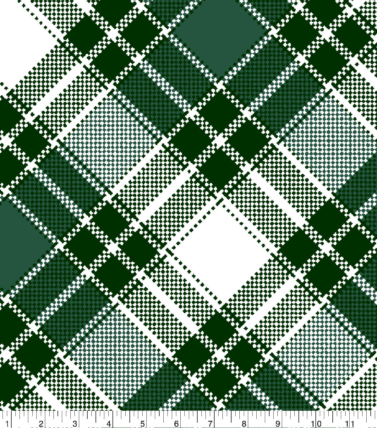 Blizzard Fleece Fabric 59\u0022-Annie Plaid Green