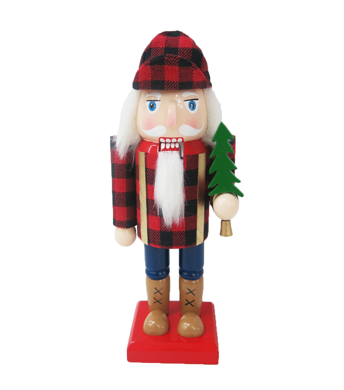 Maker\u0027s Holiday Christmas 9.25\u0027\u0027 Nutcracker-Buffalo Plaid