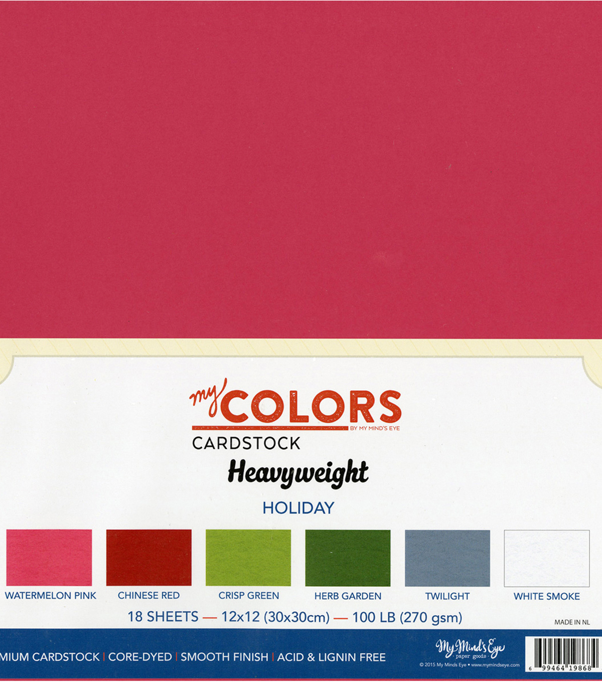 "My Colors Heavyweight Cardstock Bundle 12""X12""-Holiday"