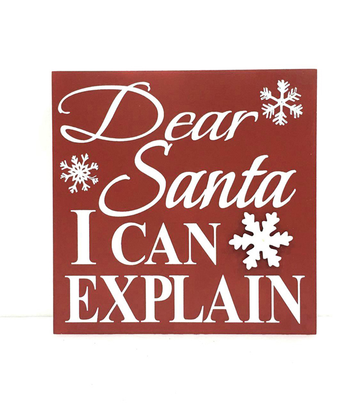 Maker\u0027s Holiday Table Decor Block-Santa I Can Explain