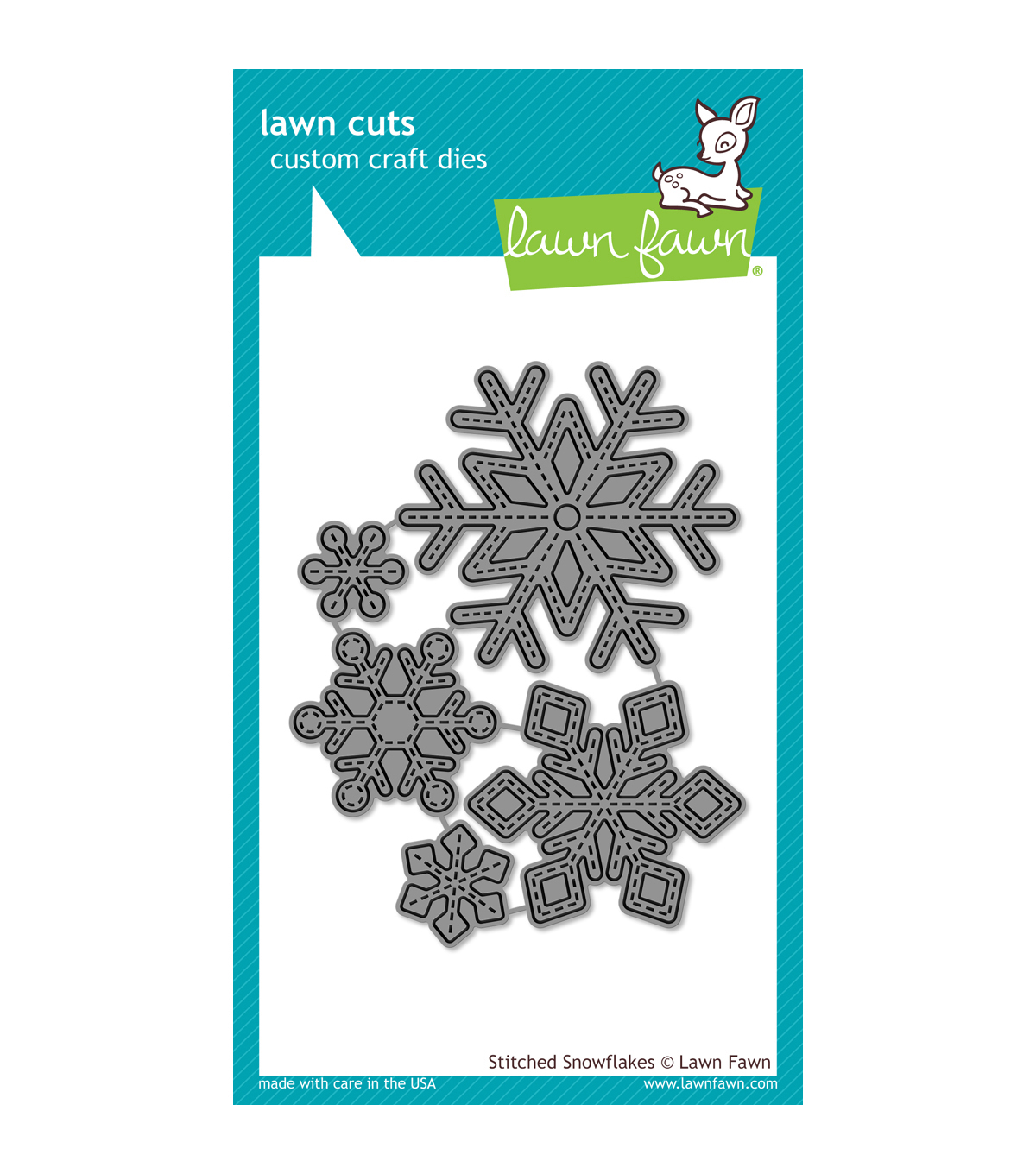 Lawn Fawn Lawn Cuts Custom Craft Die-Stitched Snowflakes