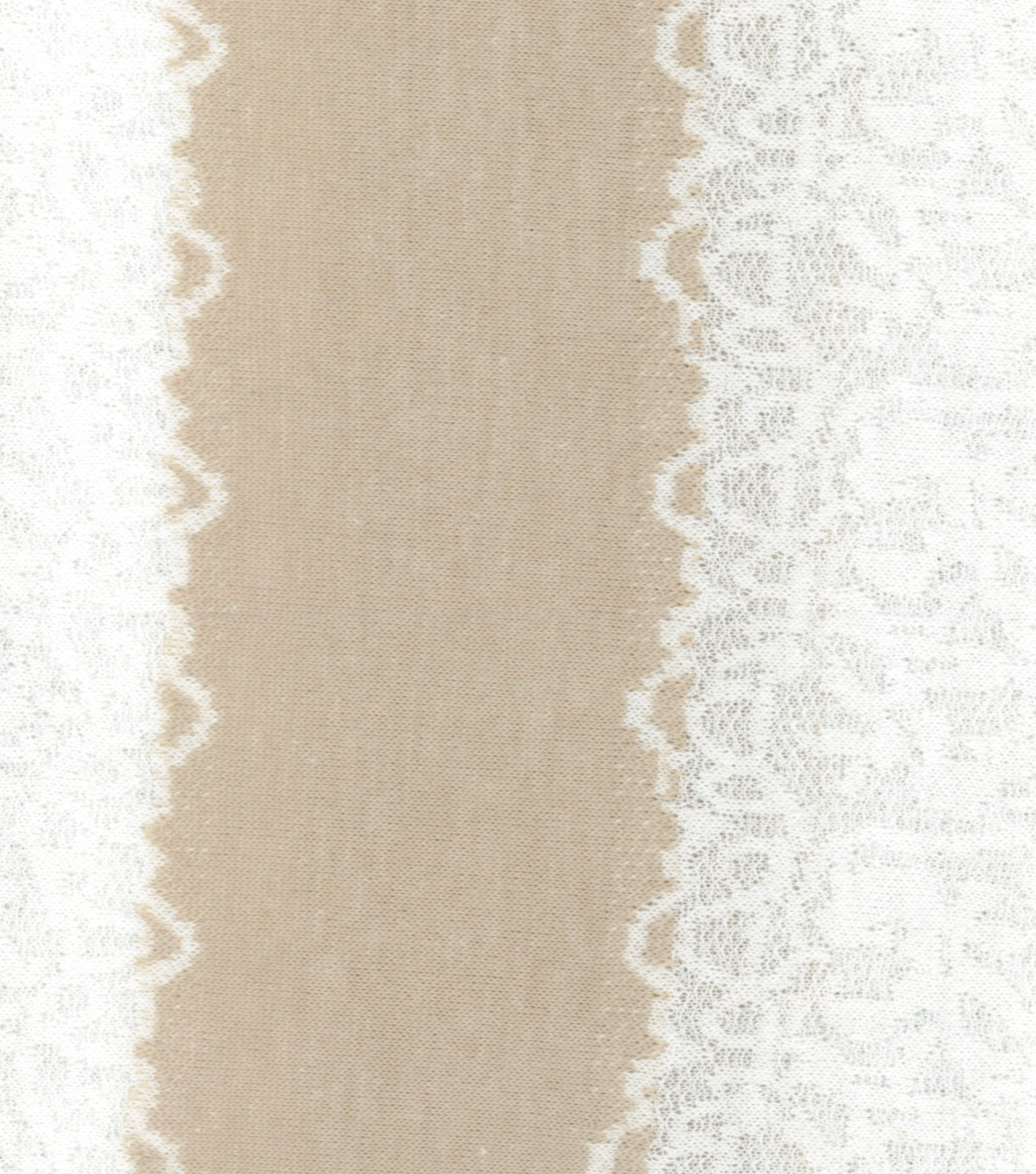 Knit Fabric Lacey Stripe Cream Ivory