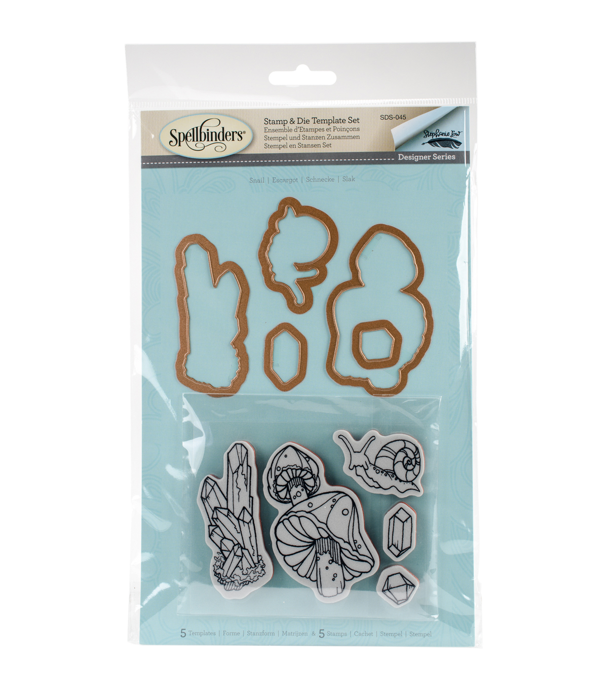 Spellbinders® Earth Air Water Stephanie Low Stamp & Die Set-Snail