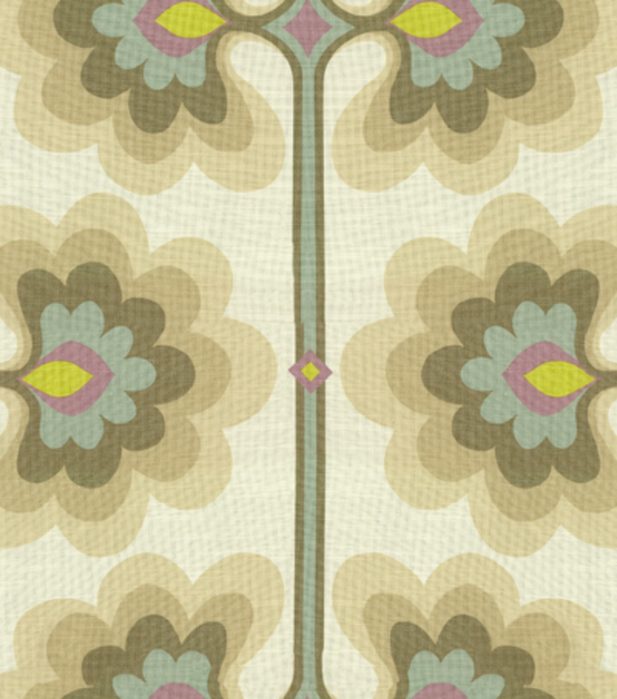 "Home Decor 8""x8"" Fabric Swatch-HGTV HOME Flower Tower Quartz"