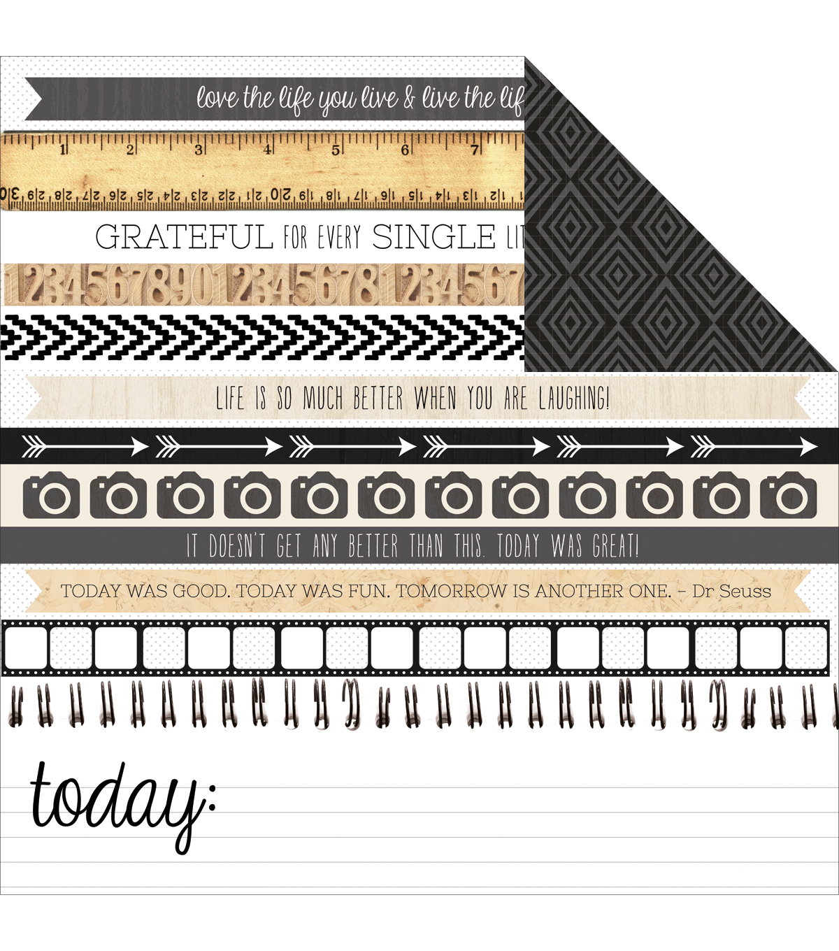 "Kaisercraft-Hello Today Double-Sided Cardstock 12""X12""-Nowadays"