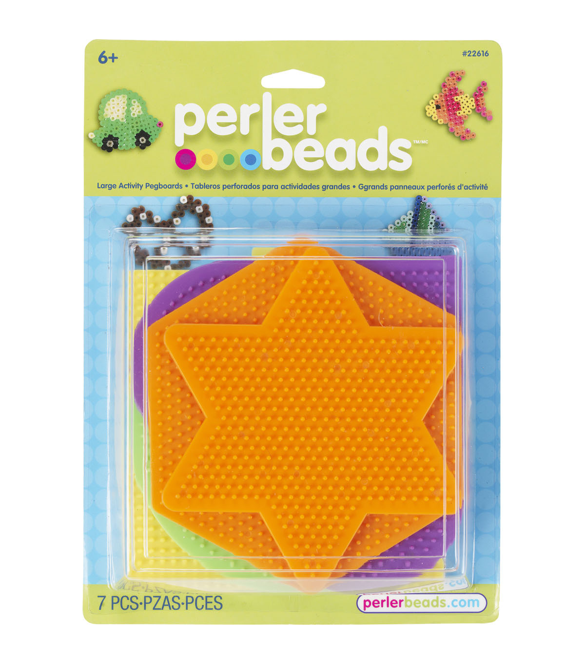 Perler® Funfusion Large Basic Shapes Pegboard Set