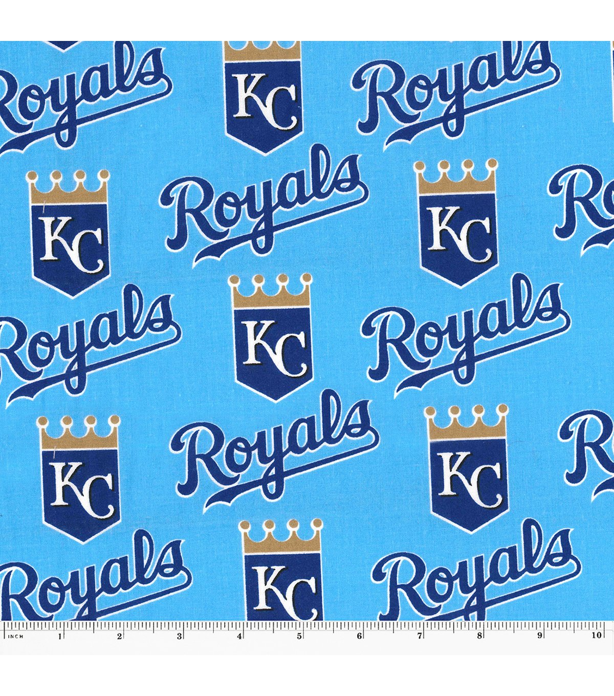Kansas City Royals Cotton Fabric 58\u0027\u0027-Mascot Logo