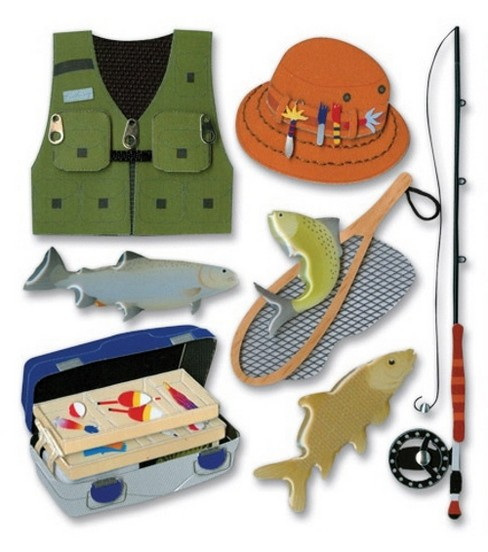 Jolee's Boutique Themed Ornate Stickers-Fishing Trip