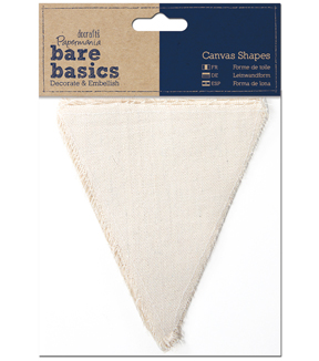 Papermania Bare Basics Flag Canvas Shapes