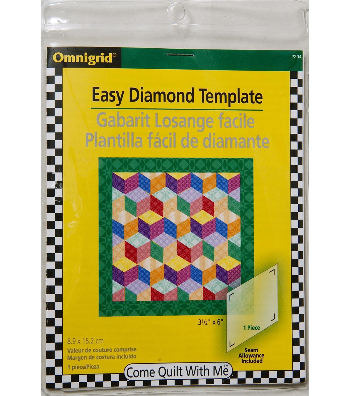Omnigrid 60 degree diamond temp joann omnigrid easy diamond template pronofoot35fo Choice Image