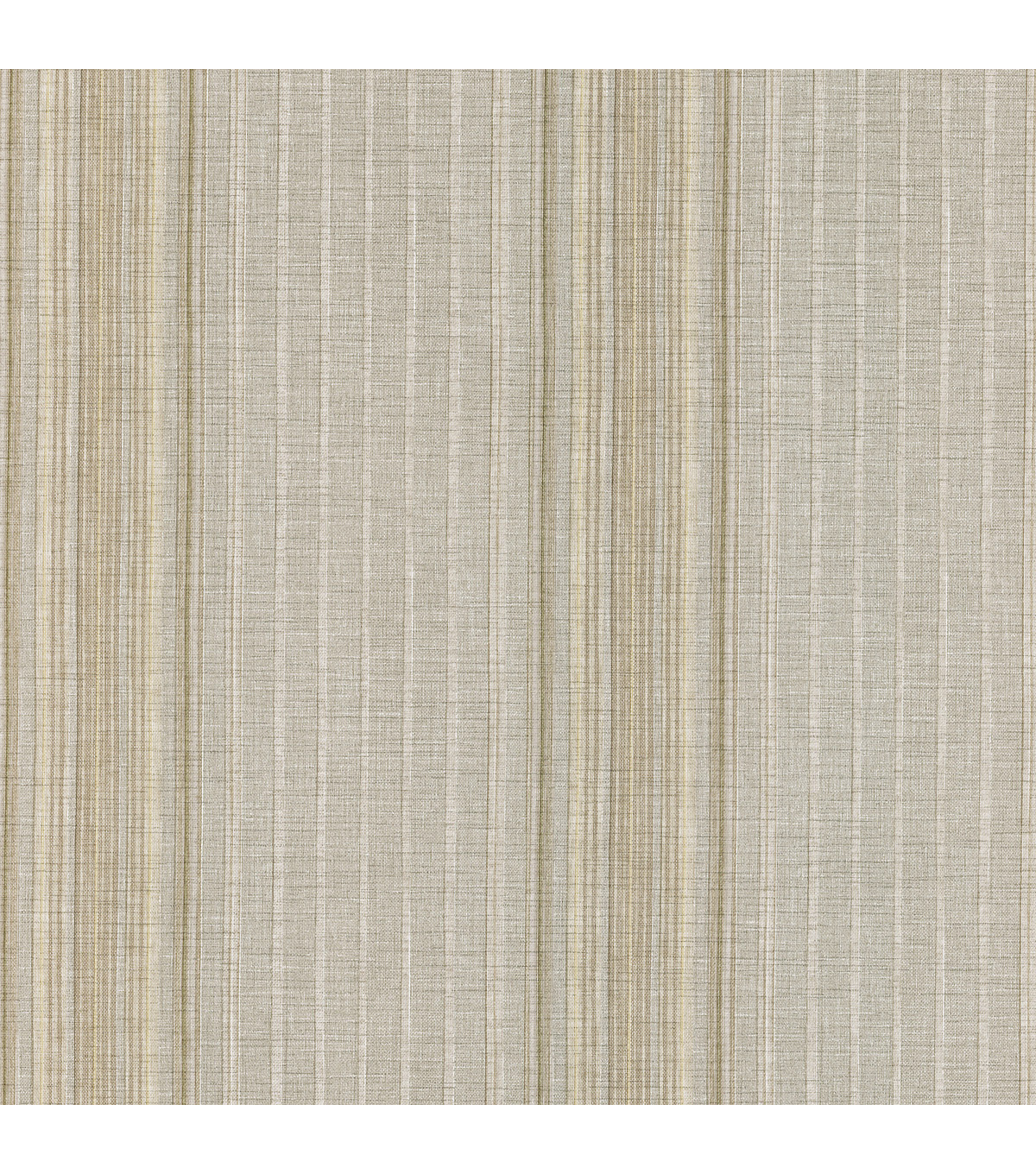 Natuche Grey Linen Stripe Wallpaper Sample