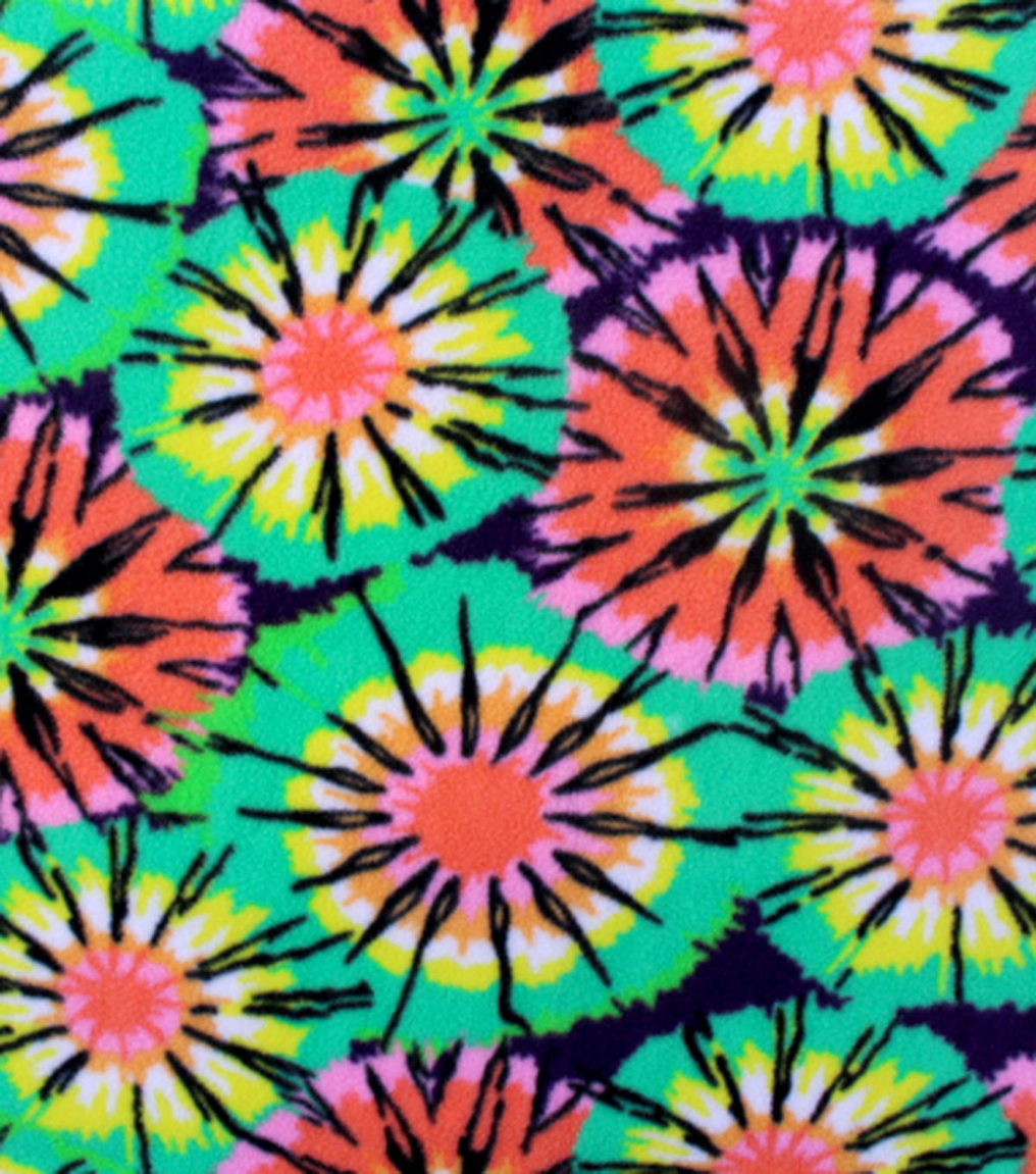 "Anti-Pill Fleece Fabric 59""-Splash Tiedye"
