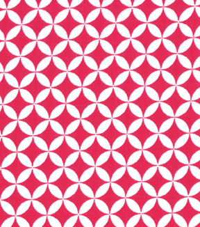 "Quilter's Showcase™ Cotton Quilt Fabric 44""-Quatrefoil Beetroot and White"