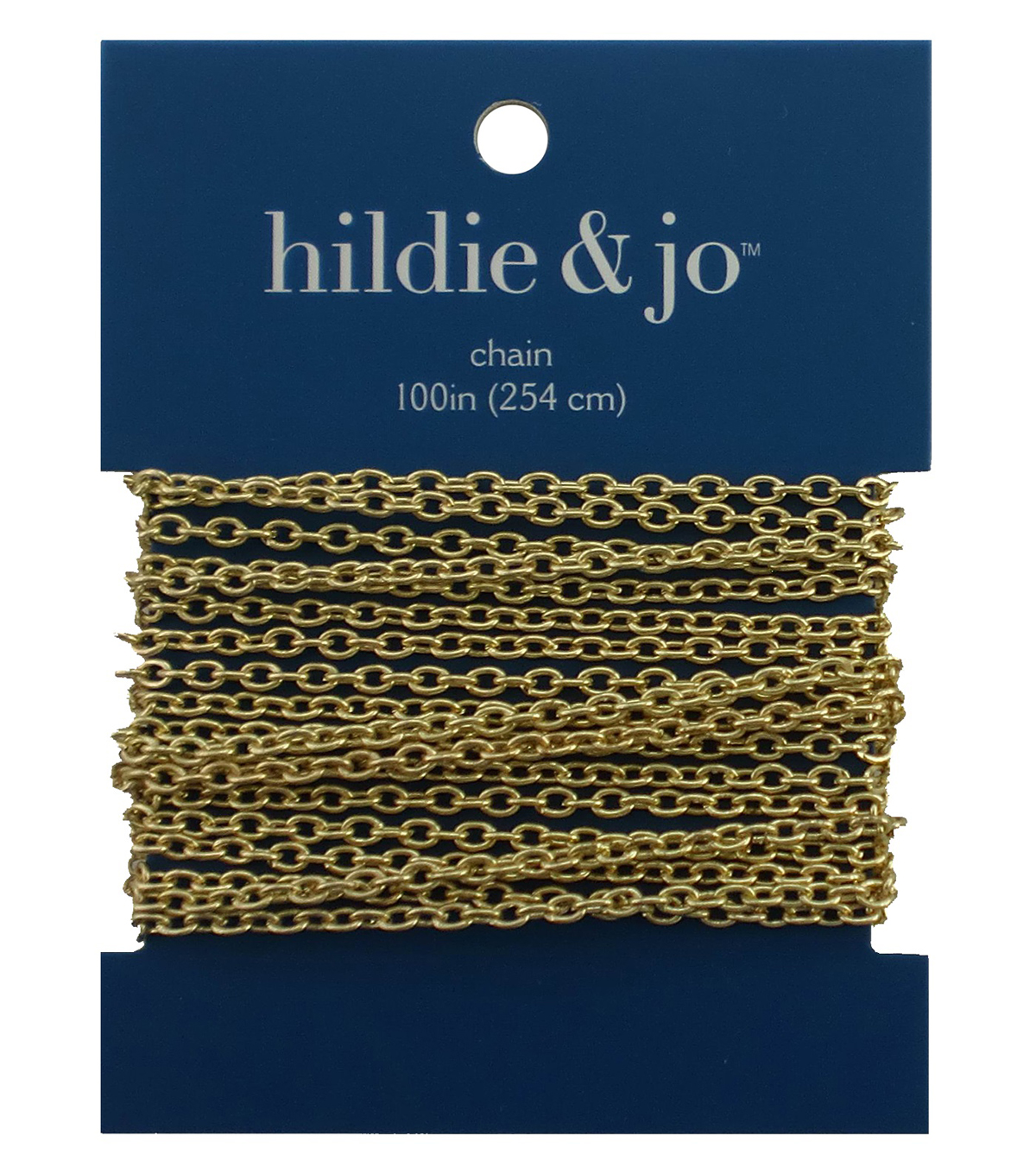 Blue Moon Small Cable Chain-100\u0022 Gold