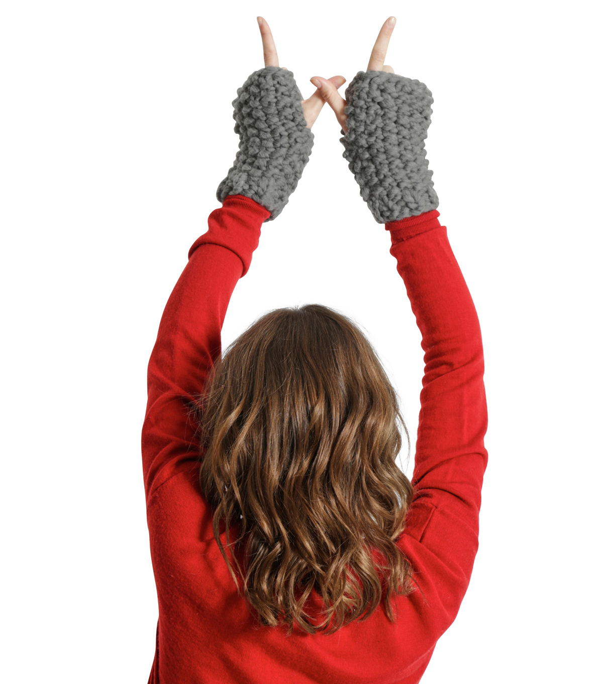 Wool And The Gang Missy Mittens Knit Kit-Tweed Gray
