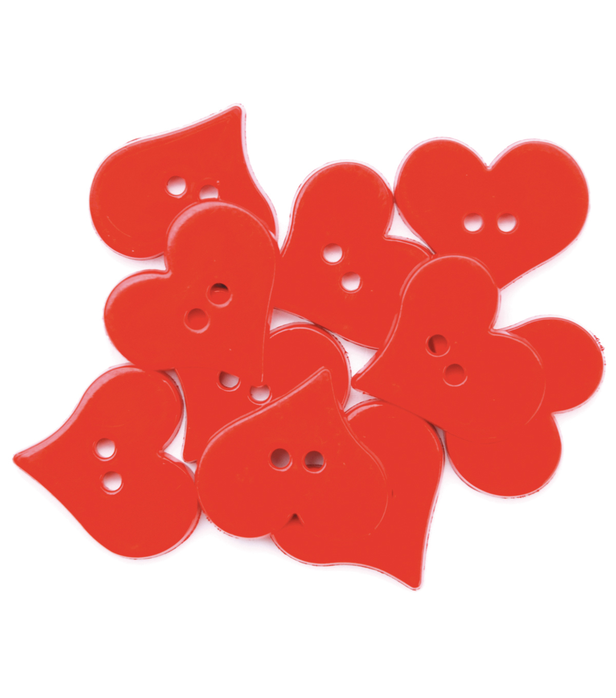 Favorite Findings Buttons-Valentine\u0027s Hearts 12/pk