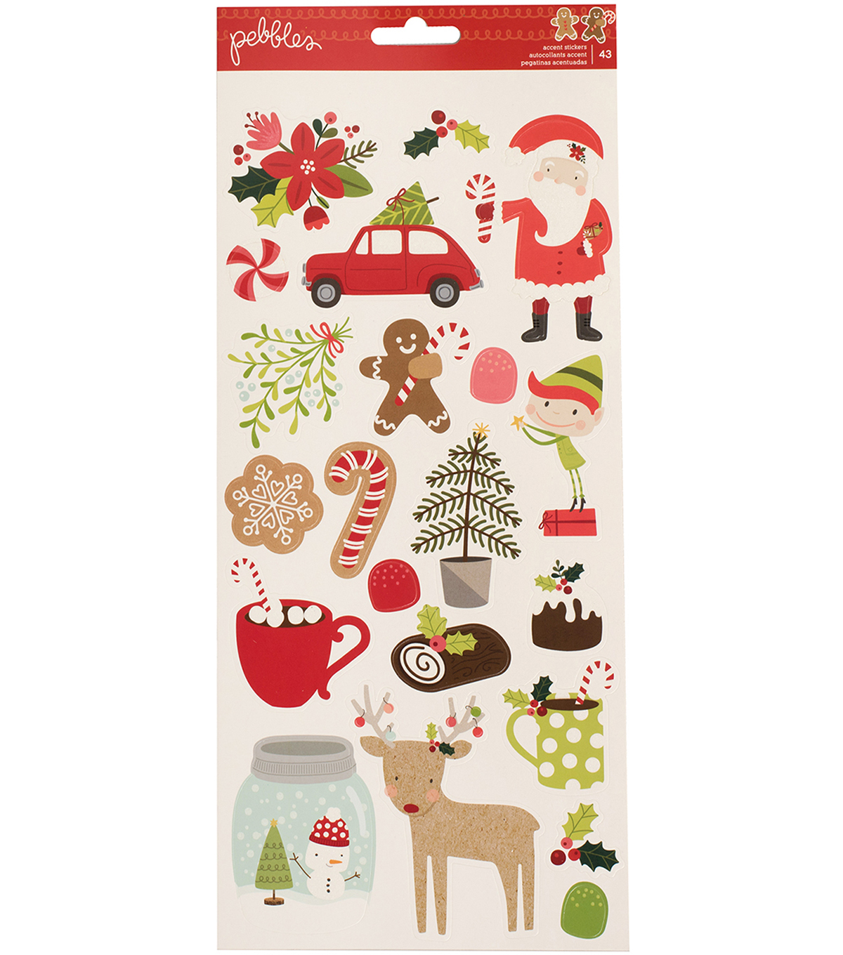 "Merry Merry Cardstock Stickers 5.5""X11""-Icons & Accents"