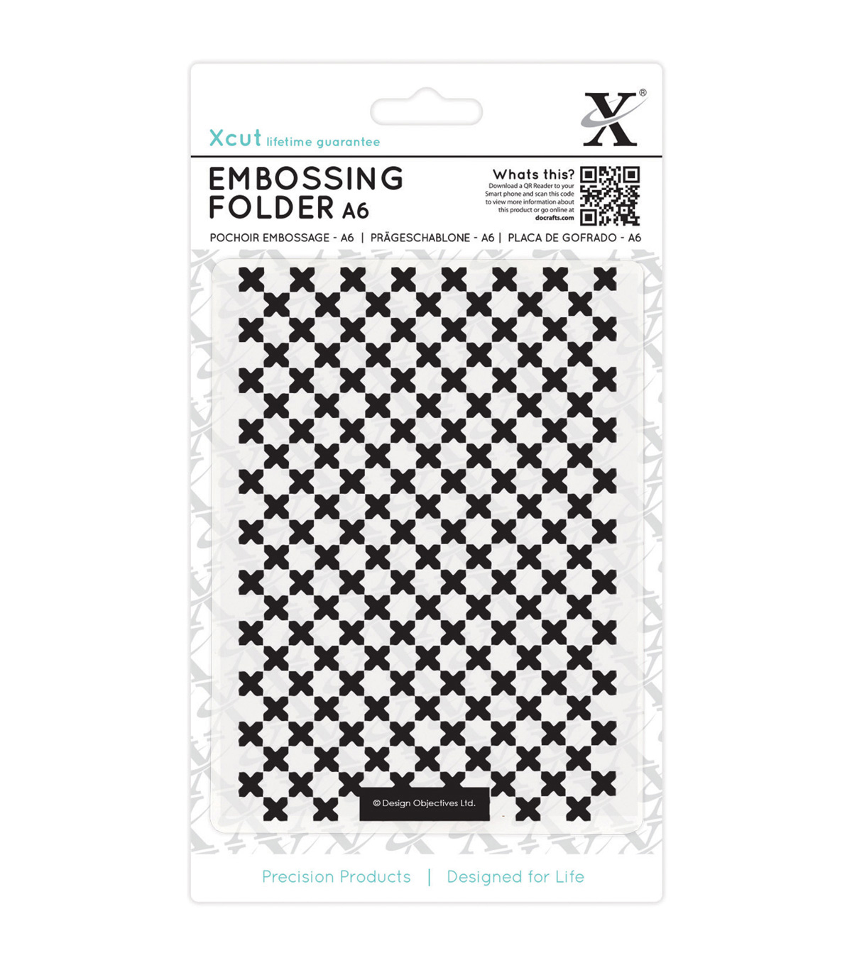 Xcut Universal A6 Embossing Folder-Moroccan Cross Tiles