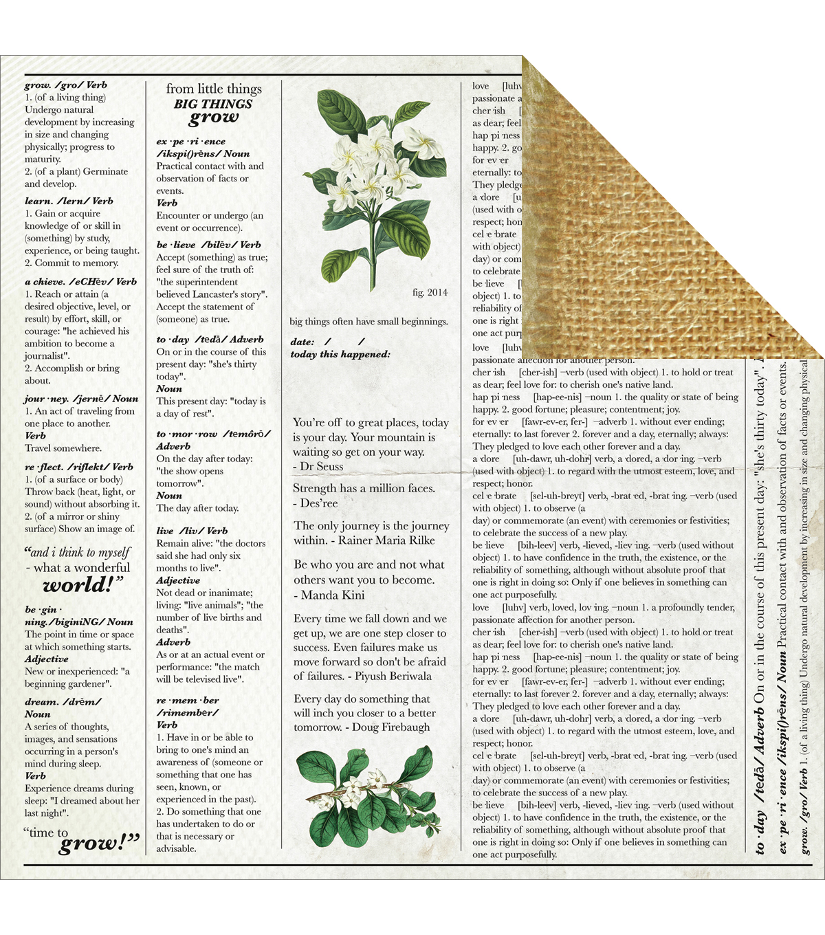 Kaisercraft Limelight Double-Sided Cardstock Paper Arise