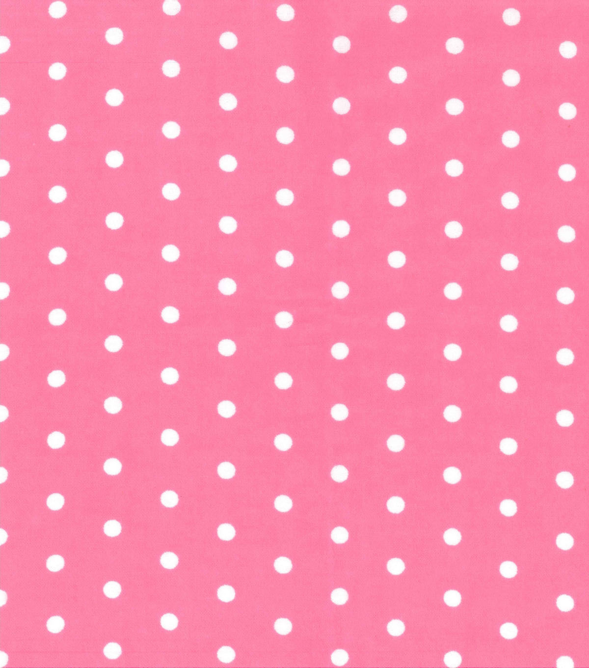 Snuggle Flannel Fabric 42\u0027\u0027-White Dots on Pink