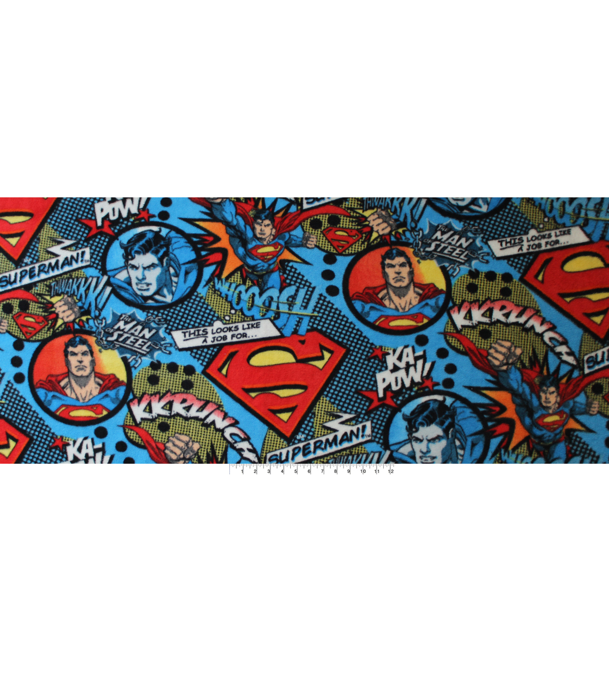 DC Comics Superman Fleece Fabric 58\u0022-Flying