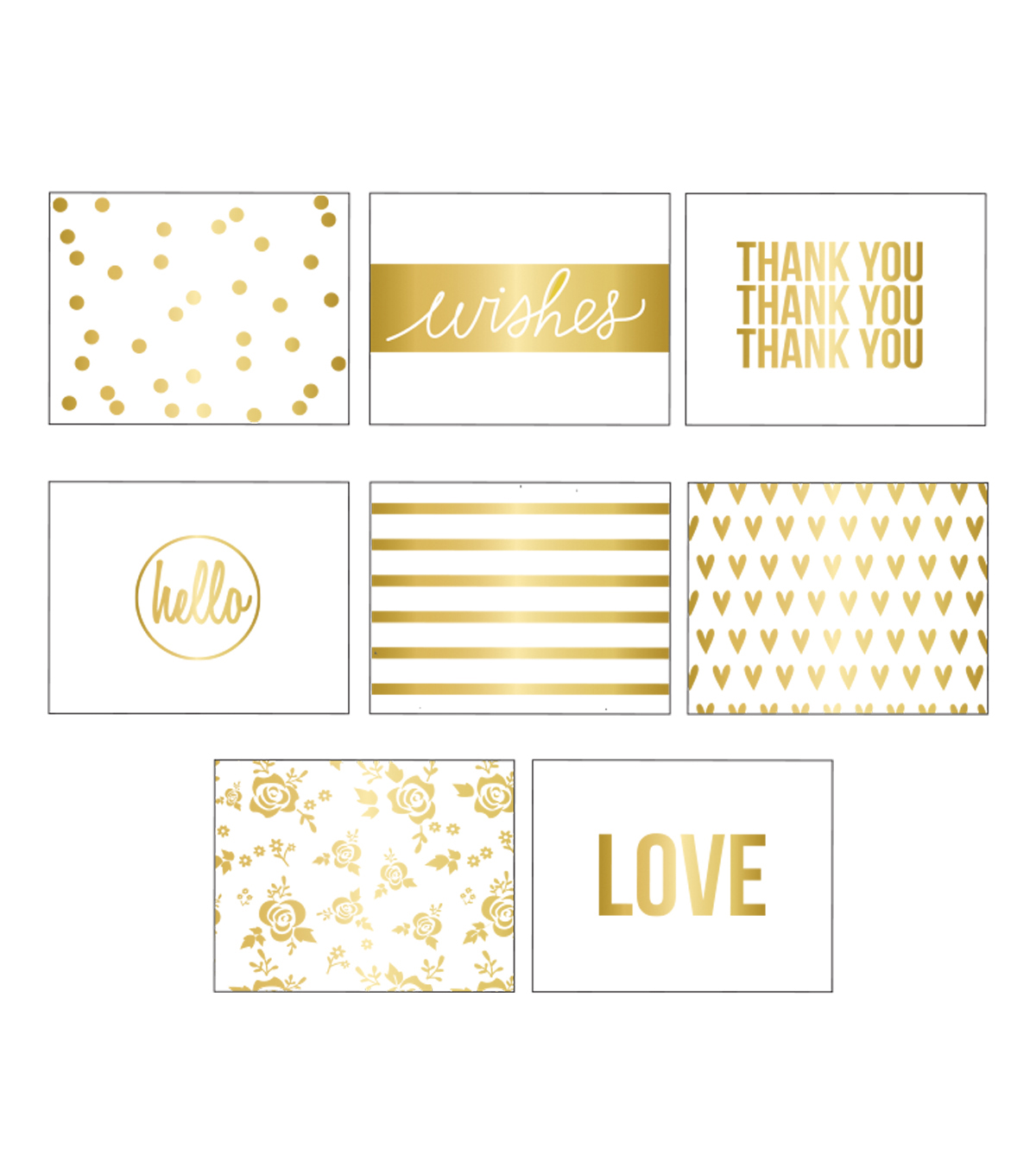 Teresa Collins™ Gold Glam Box of Cards-Love