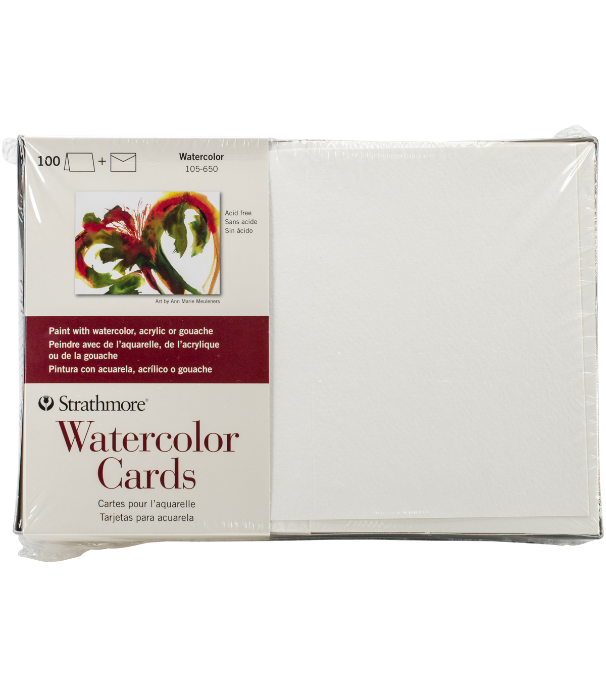 Strathmore Cards & Envelopes 5\u0022X6.875\u0022 100/Pkg-Watercolor