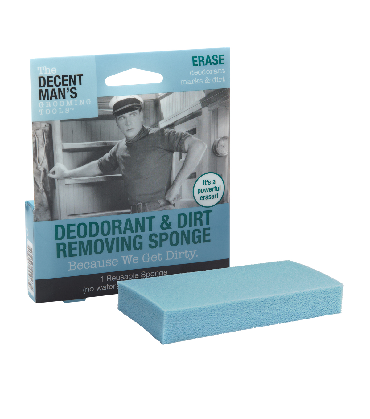 The Decent Man\u0027s Grooming Tools-Deodorant and Dirt Removing Sponge