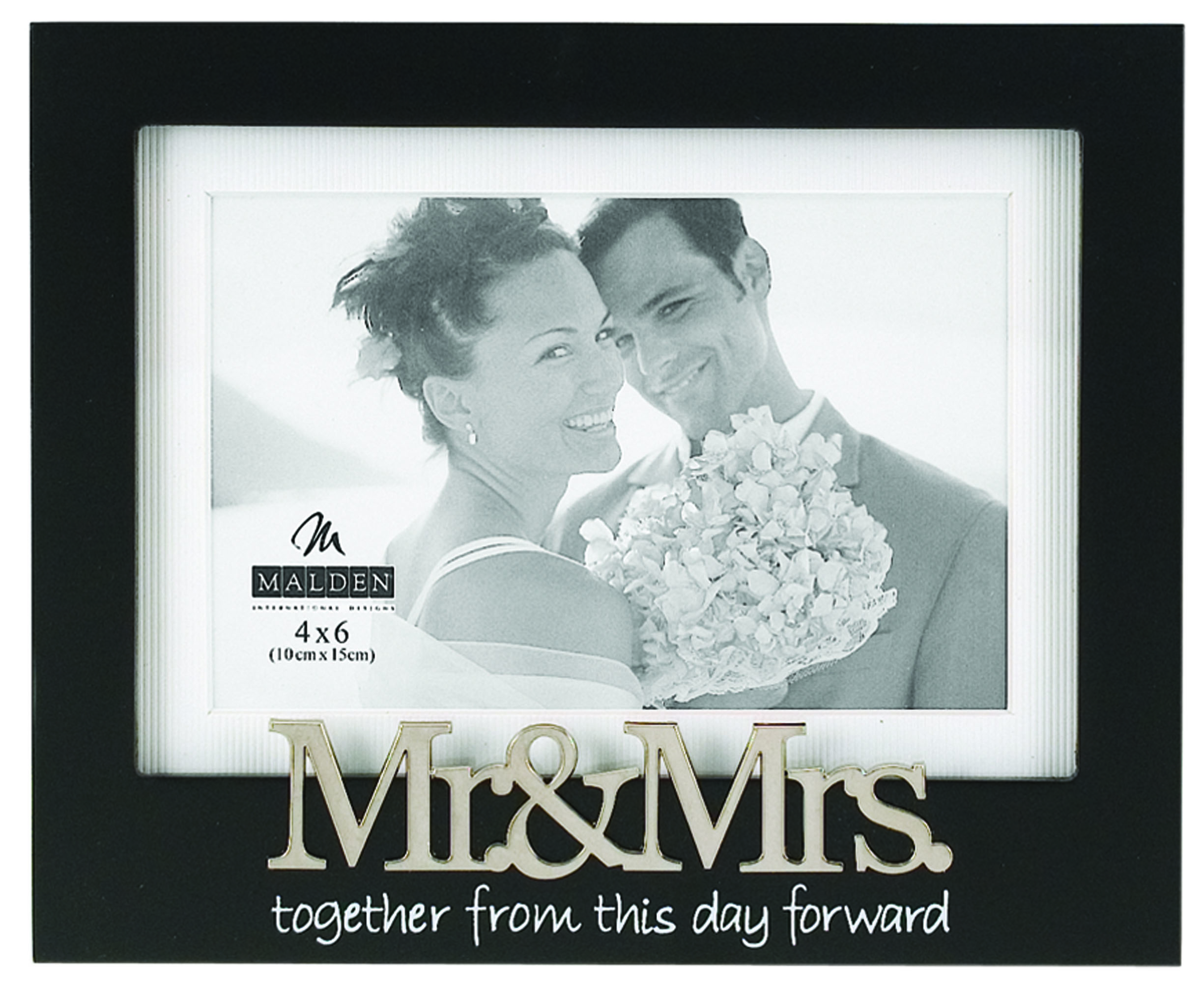 Tabletop Frame 4X6-Mr And Mrs/Black
