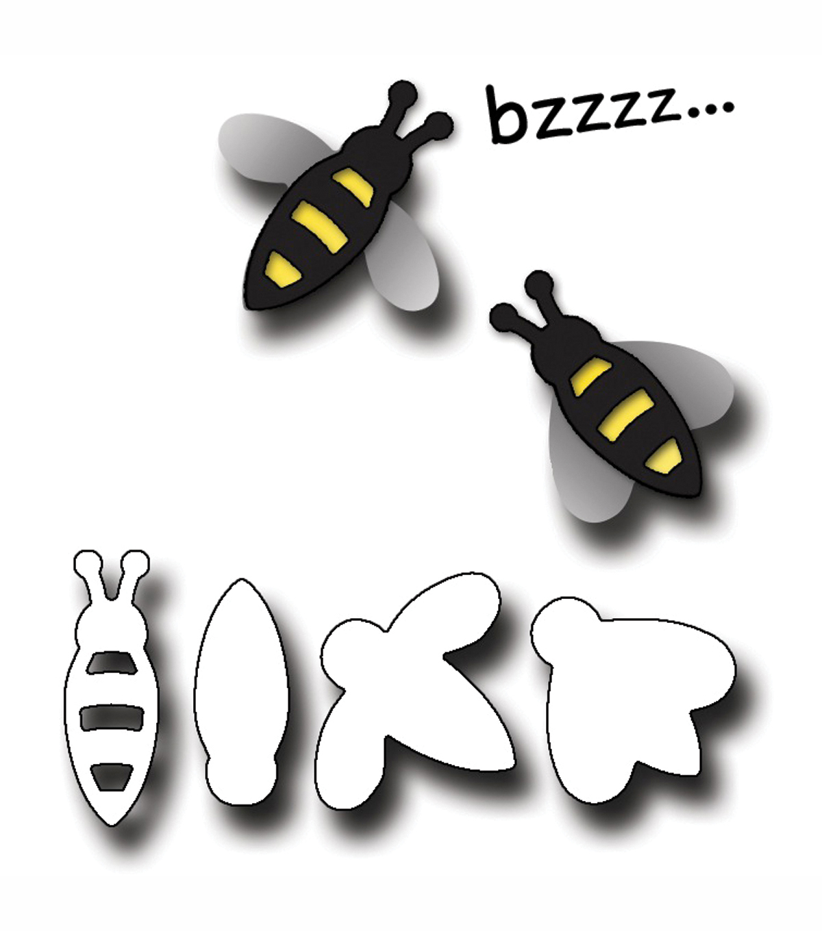 Elizabeth Craft Designs Metal Die Bees