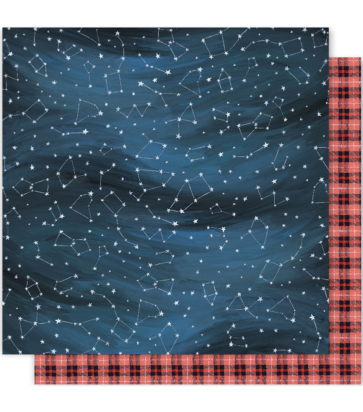 "One Canoe Two Creekside Double-Sided Cardstock 12""X12""-Night Sky"