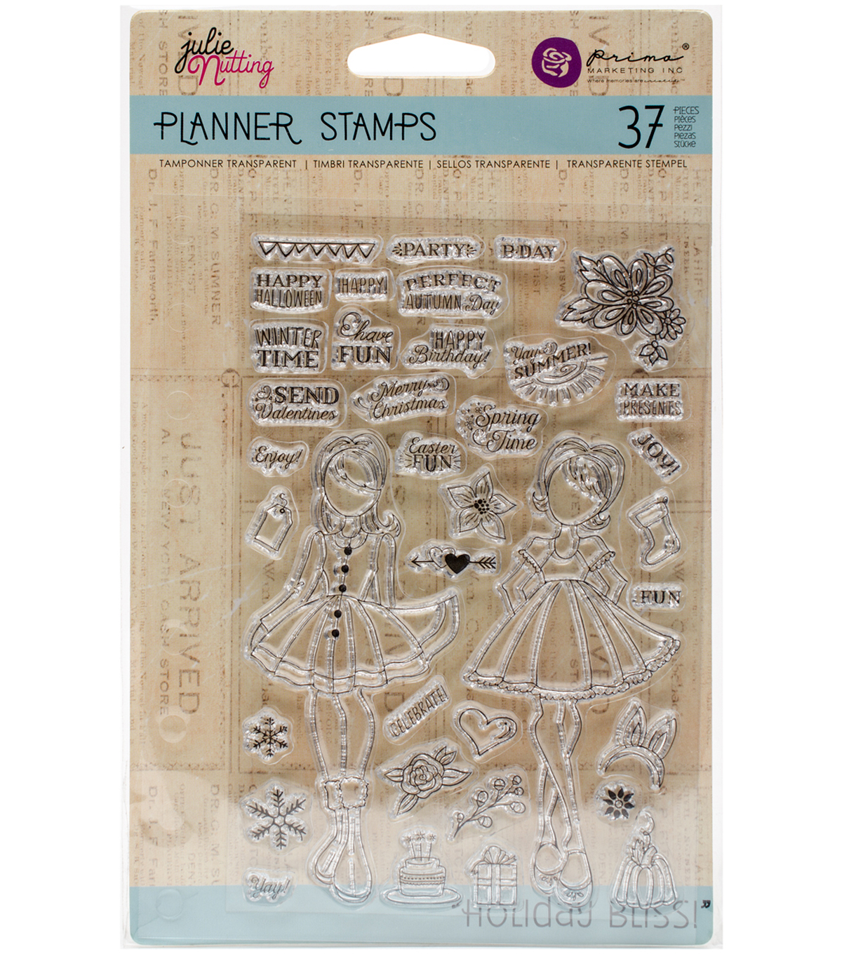 Planner Clear Stamps 4\u0022X6\u0022-Holiday Bliss