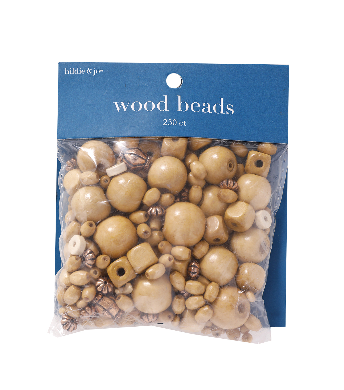 Wood and Plastic Bead Assortment, Brown, 230pcs.
