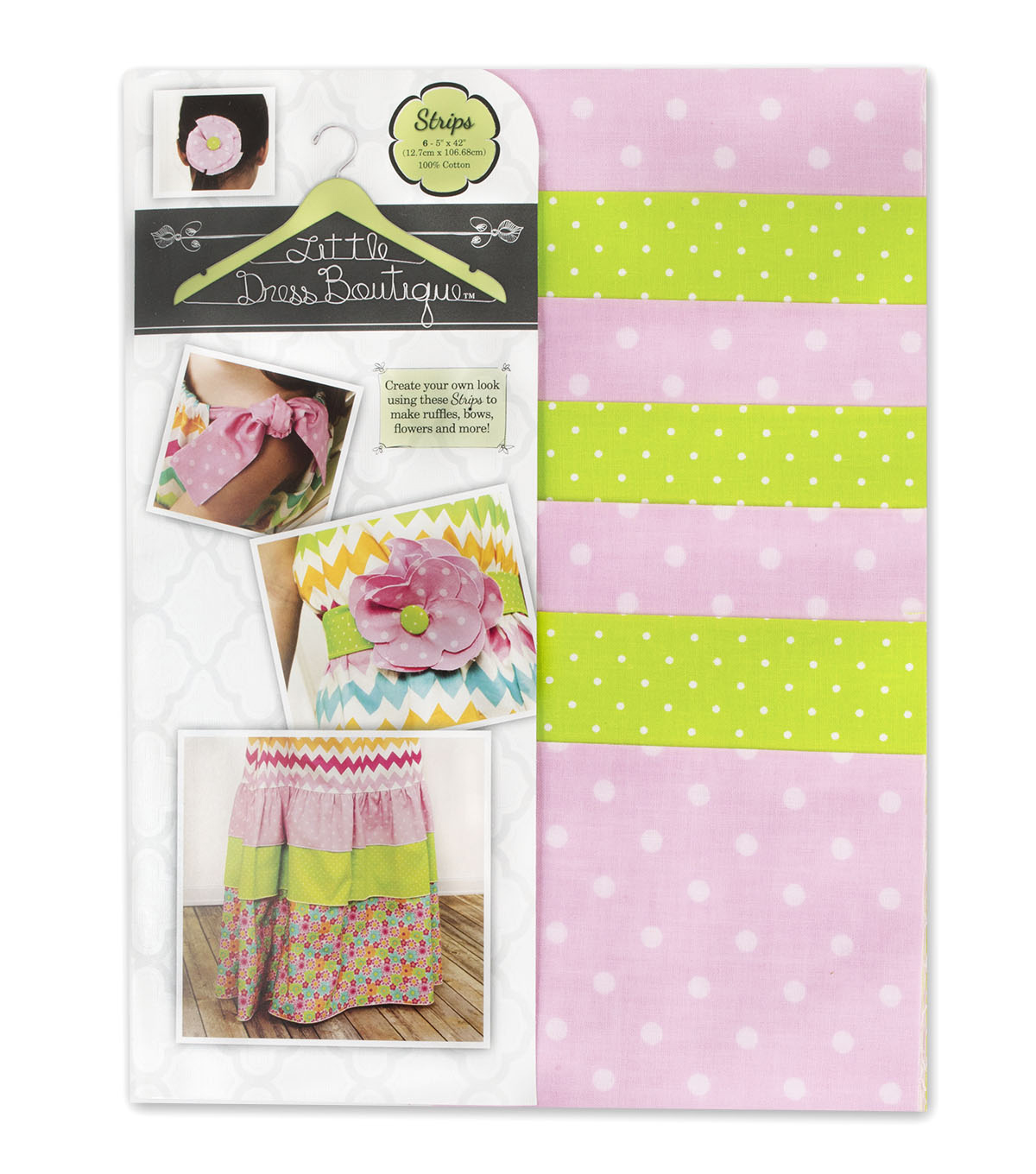 Little Dress Boutique Cotton Fabric-Maddie 5\u0022 Strips