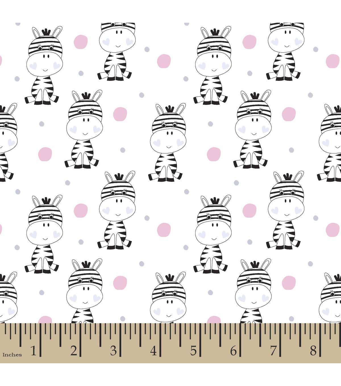 snuggle flannel fabric 42u0022 polka dot zebra