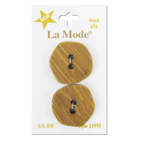 La Mode Tan Textured Shape 1in