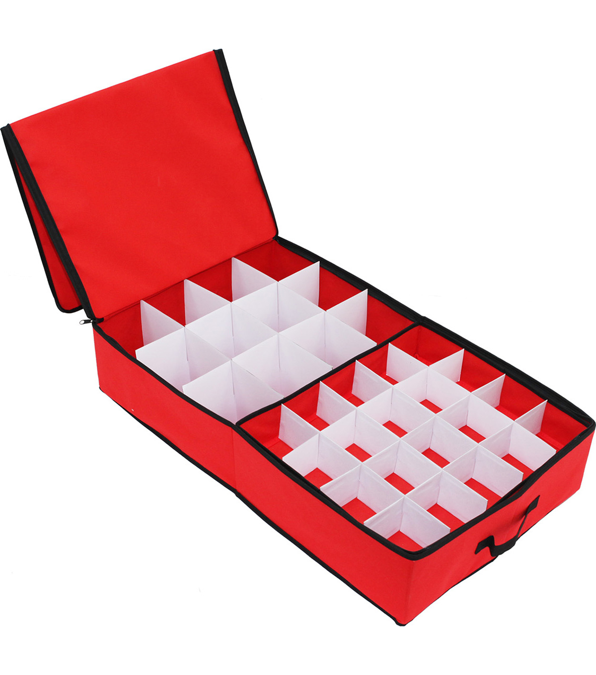 Ornament Storage Box with 52 Cavities-Red