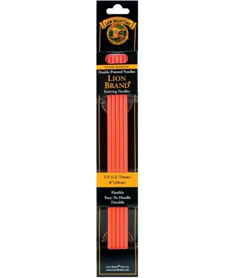 Lion Brand Double Point Knitting Needles 8\u0022-Size 5 3.75mm