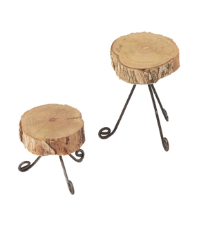 Fairy Garden Set Of 2 Wood Plant Stand