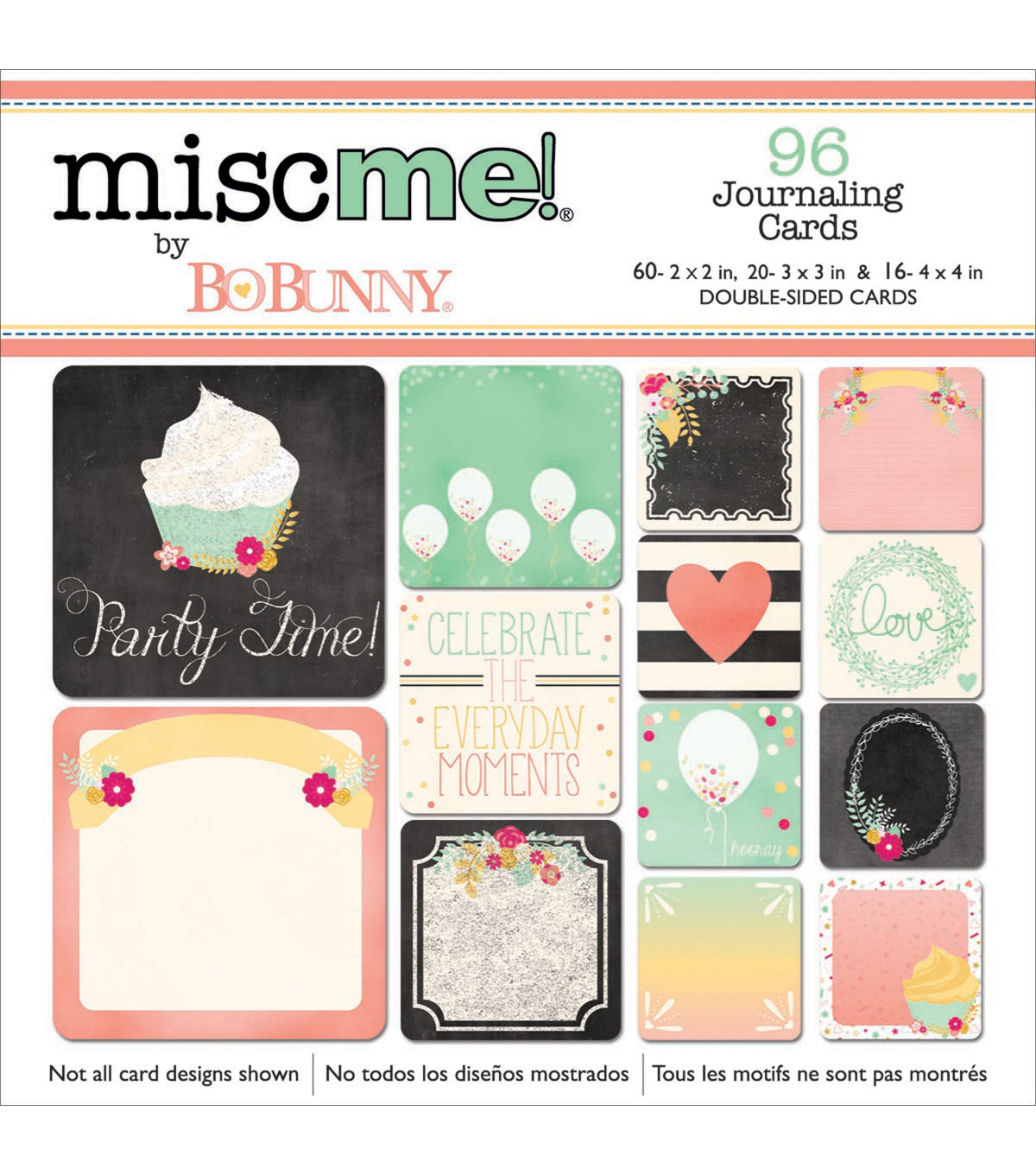 Bo Bunny Misc Me You're Invited Pocket Squares Journaling Cards