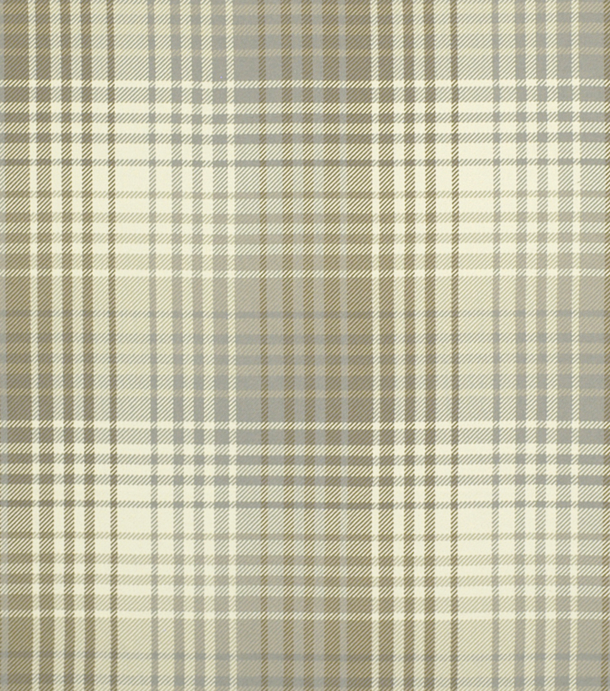 "Home Decor 8""x8"" Fabric Swatch-Robert Allen Luxe Plaid Pewter Stone"
