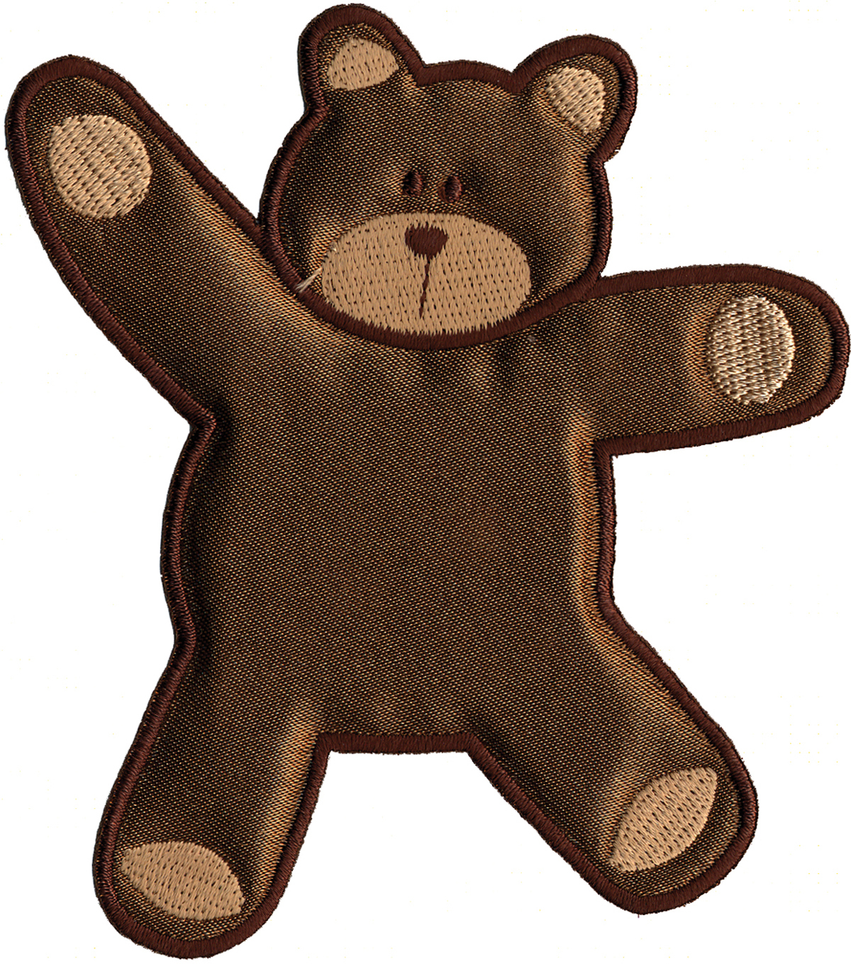 Wrights Especially Baby Iron-On Appliques-Brown Bear 4\u0022X3-5/8\u0022 1/Pkg