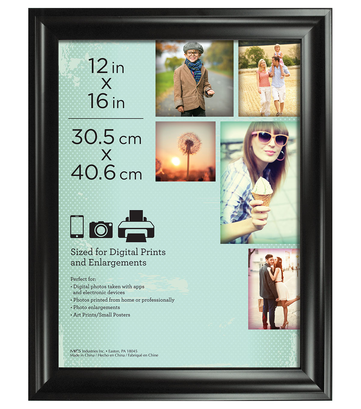 Wall Frame 12X16-Deep Scoop Black